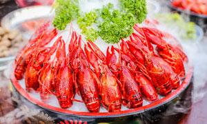 冰镇小龙虾美食摄影图片