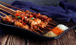 烤羊肉串美食摄影图片
