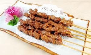 特色羊肉串美食摄影图片