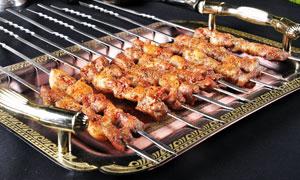美味羊肉串烤串高清摄影图片