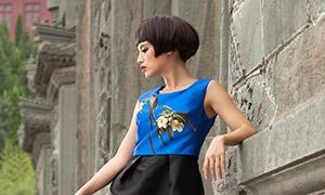 短发发型浓妆美女模特写真摄影原片