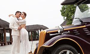 景区拍摄的婚纱照摄影高清原片素材