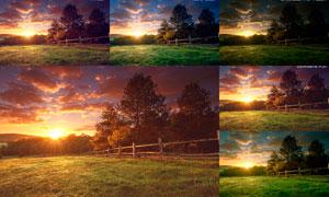 外景照片单色艺术效果PS动作