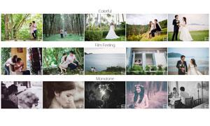 Kamin系列婚礼照片后期调色LR预设