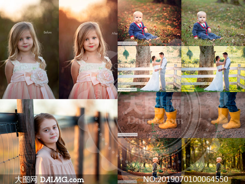 JMP系列Tennessee摄影师暖色PS动作合集