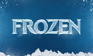冬季冰冻特效文字设计PSD模板