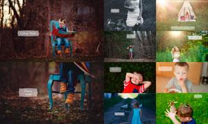 中文版欧美家庭照片美化处理PS动作