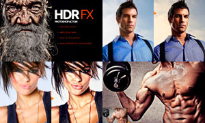 中文版质感HDR艺术效果动作