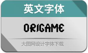 Origame(英文字体)