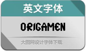 Origamen(英文字体)