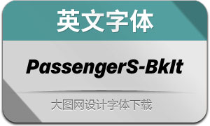 PassengerSans-BlackIt(英文字体)