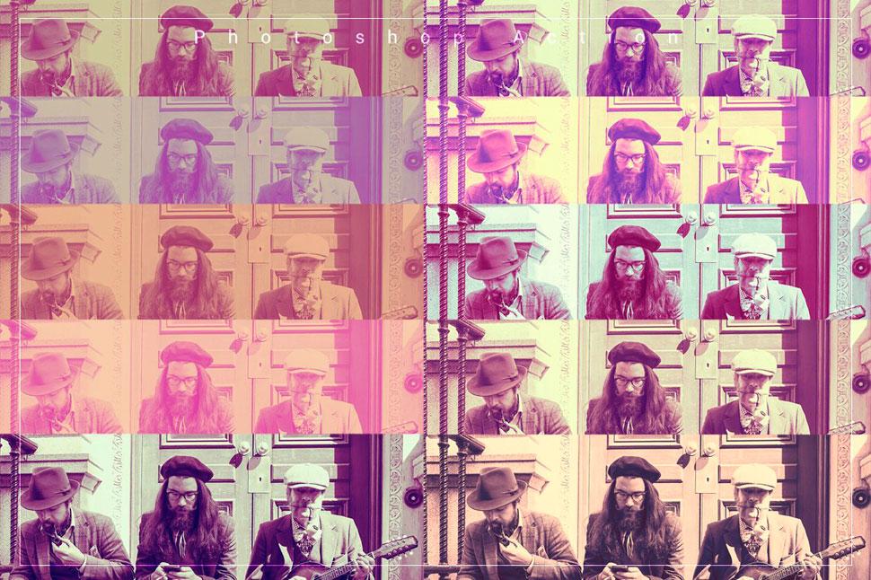 20款人像照片复古艺术效果PS动作