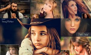 20款人物肖像高質量質感膚色LR預設