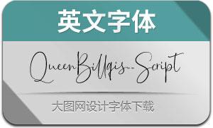 QueenBillqis-Script(英文字体)