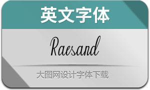 Raesand(英文字体)