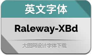 Raleway-ExtraBold(英文字体)