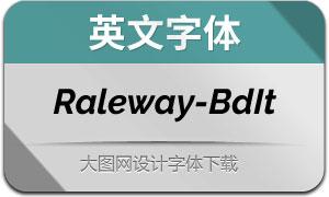 Raleway-BoldItalic(英文字体)