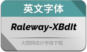 Raleway-ExtraBoldItalic(英文字体)