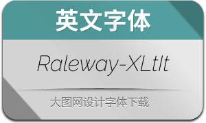 Raleway-ExtraLightItalic(英文字体)