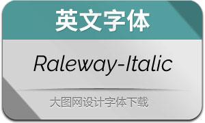 Raleway-Italic(英文字体)