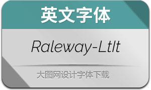 Raleway-LightItalic(英文字体)