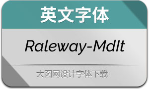 Raleway-MediumItalic(英文字体)