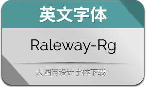 Raleway-Regular(英文字体)
