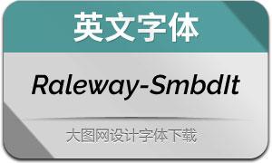 Raleway-SemiBoldItalic(英文字体)