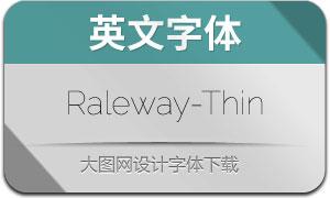 Raleway-Thin(英文字体)