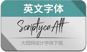 ScriptycaAlternate(英文字体)