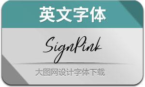 SignPink(英文字体)