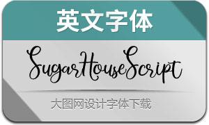 SugarHouseScript(英文字体)