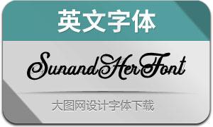 SunandHerFont(英文字体)