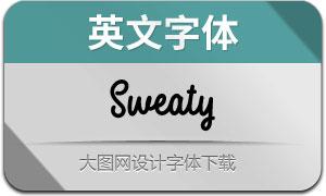 Sweaty(英文字体)