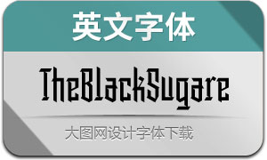 TheBlackSugare(英文字体)