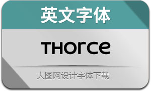 Thorce(英文字体)