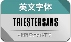TriesterSans(英文字体)