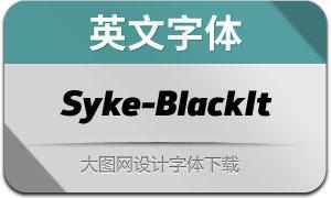 Syke-BlackItalic(英文字体)