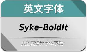 Syke-BoldItalic(英文字体)
