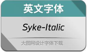 Syke-Italic(英文字体)