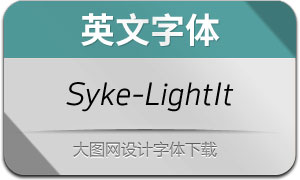 Syke-LightItalic(英文字体)