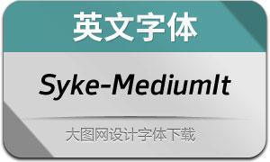 Syke-MediumItalic(英文字体)