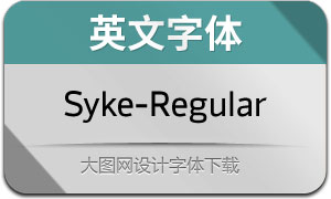 Syke-Regular(英文字体)