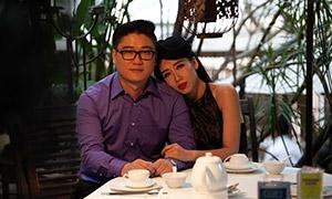 餐桌边的情侣男女人物写真摄影原片