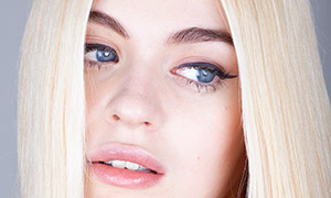 金发蓝眼睛的美女人像摄影高清原片