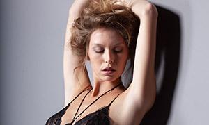 黑色内衣性感美女模特写真摄影原片