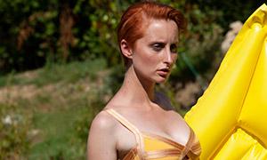 泳装打扮美女模特人物写真摄影原片