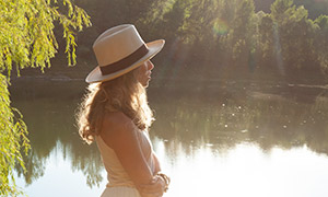 长裙飘飘欧美模特写真摄影原片素材