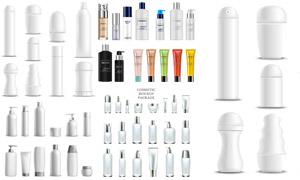 多款化妝品包裝瓶效果設計矢量素材