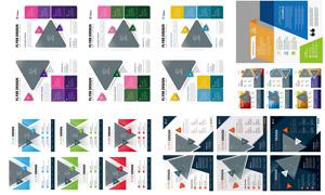 幾何抽象圖形元素畫冊設計模板素材
